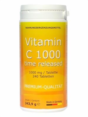 VITAMIN C 1.000 mg 240 Tab. TIME RELEASED glutenfrei