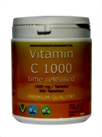 VITAMIN C 1.000 mg 500 Tab. TIME RELEASED **RETARD** glutenfrei